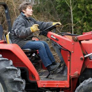 Writer Billie Best had to sell her tractor to downsize and start over.