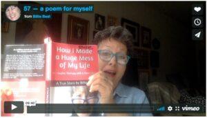 Billie Best reads her poem 57.