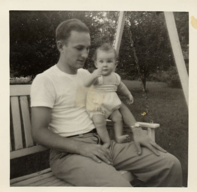 Billie Best with her father in 1954.