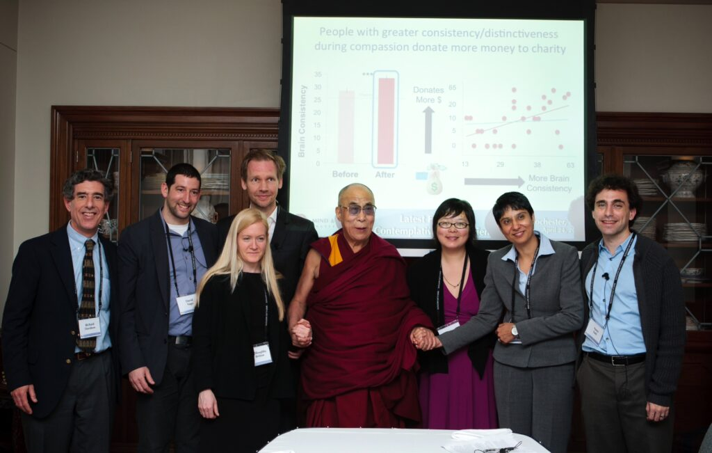 Dr. Vago presents his research to His Holiness the Dalai Lama as part of Mind and Life XXIV – Latest Findings in Contemplative Science
