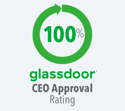 100% Glassdoor CEO Rating