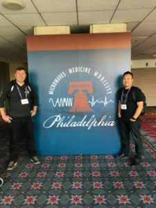 jml and chd at IMS2018 for MilliBox unveiling