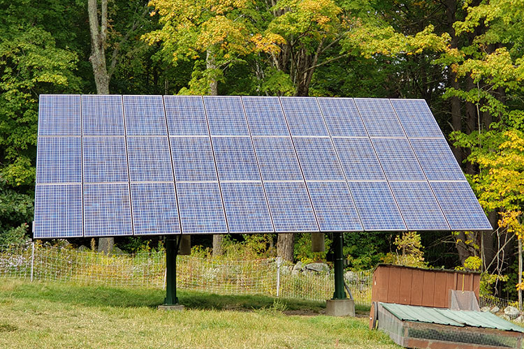 30-module solar array.
