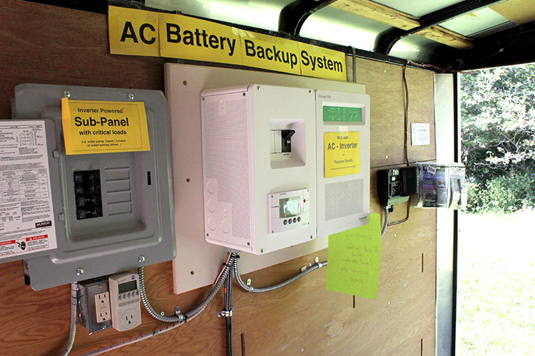 DDCS displays a battery backup system at a local event.