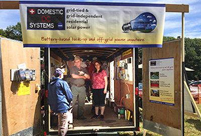 DDCS display at the North Quabbin Garlic and Arts Festival.