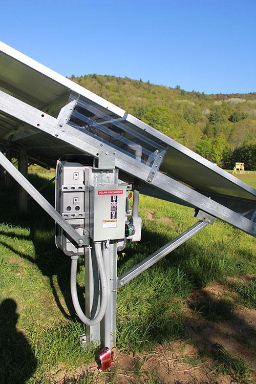 Ground-mounted solar array.