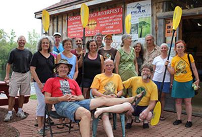 North Quabbin Garlic and Arts Festival crew on a kayaking excursion.