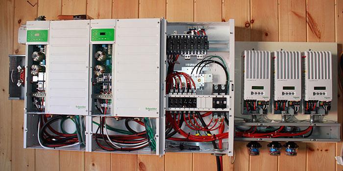 Installed Schneider dual inverter.