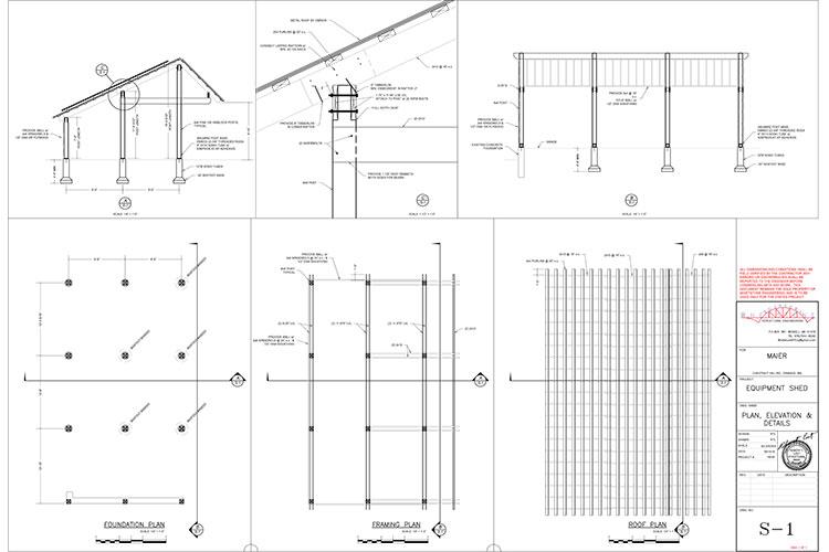 Blueprint for solar-powered EV (electric vehicle) garage.