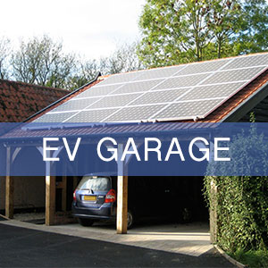A solar-powered carport style EV garage to house and charge your electric vehicle.