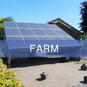 Solar-powered building for chickens and other farm livestock.