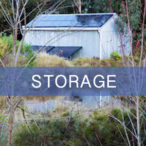 A garden storage shed constructed with optimal orientation for solar panel installation.