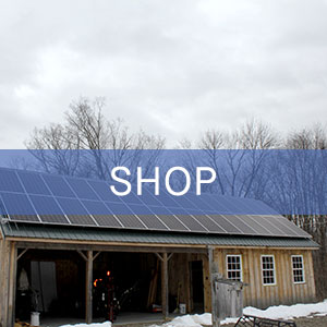 Solar-powered grid-tie-only shop building in western Massachusetts.