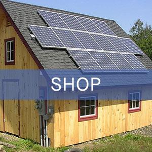 Solar-powered shop building.