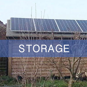 Another dual-purpose storage shed optimally designed to support a solar panel installation.
