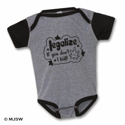 Legalize Onsie Heather Grey / Black