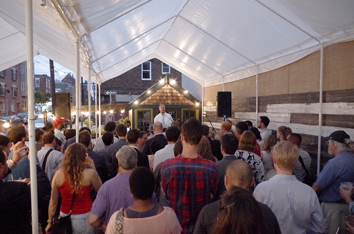 American Sardine Bar hosts Presidential Candidate Martin OMalley in Point Breeze Philadelphia on September 10 2015 - a