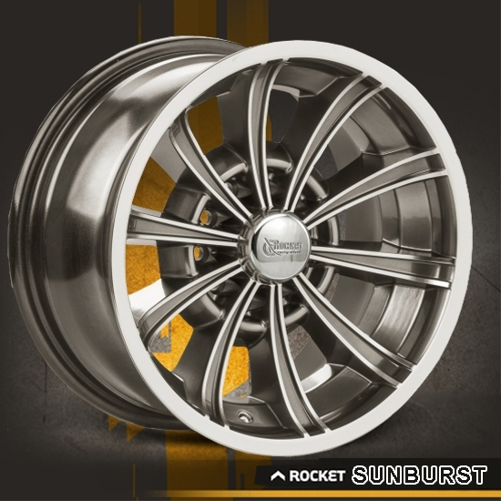 Rocket Racing Wheels-Sunburst