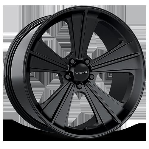 Vision_Wheels Missile_Satin_Black_5 lug