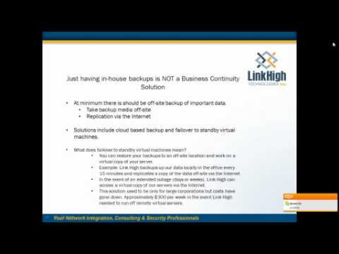Video Image: Disaster Recovery & Business Continuity Webinar