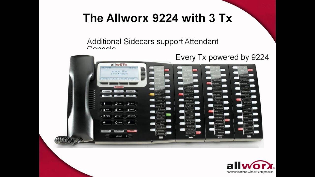 Webinar video image: Allworx telephone on display