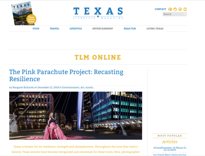 The Pink Parachute Project: Recasting Resilience - Media Coverage