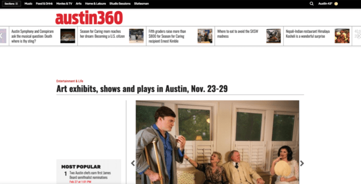 Art exhibits, shows and plays in Austin, Nov. 23-29