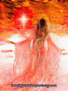 Woman, praising, prophetic art painting, worship