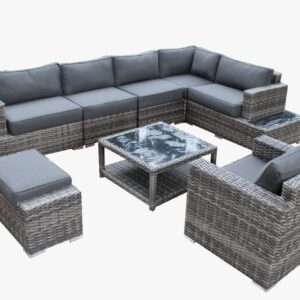 8 Piece  Summerliving L-shaped Patio Set