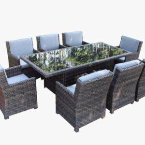 8 Piece Summerliving Dinning Table with Captain chairs