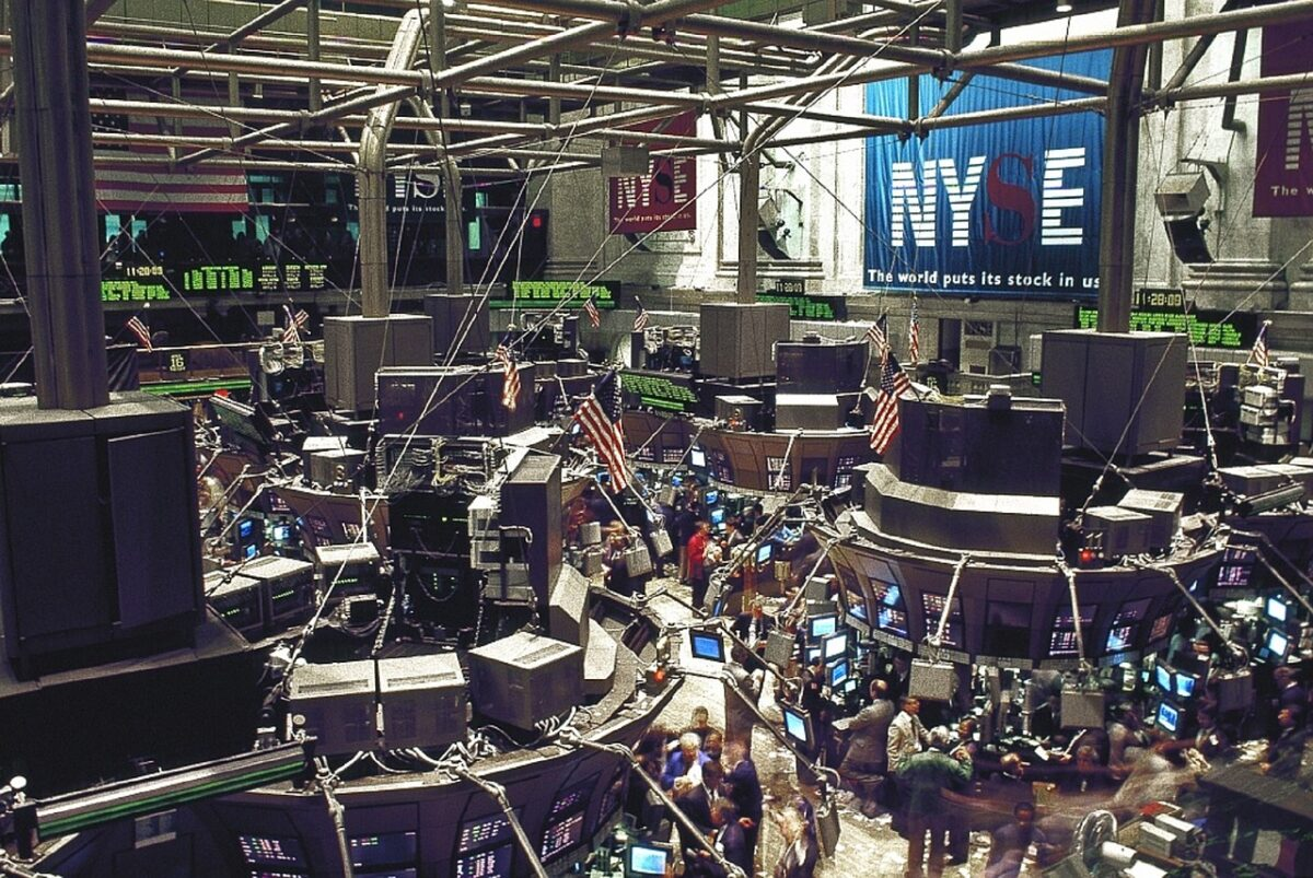 Picture of the New York Stock Exchange Where Professional Stock Trading Happens