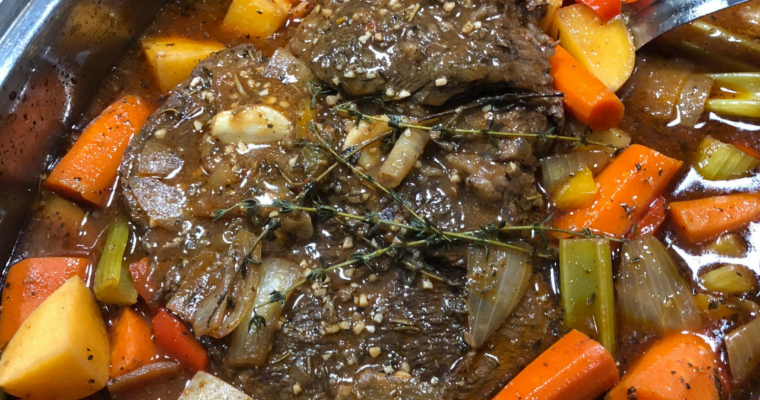Chuck Roast with Potatoes, Carrots and Celery