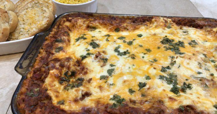 Cheesy Turkey Lasagna