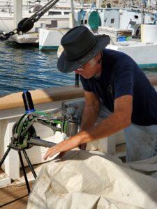 BOR-Captn-Don-sewing-resized-sail-Cobbler-Machine-20201009