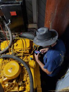BOR-Head-Engineer-working-on-Main-CAT-Engine-20200816