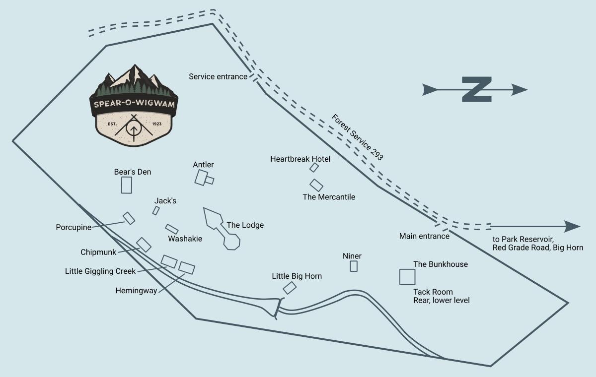 Spear O Wigwam, Wyoming Resort Map 2021
