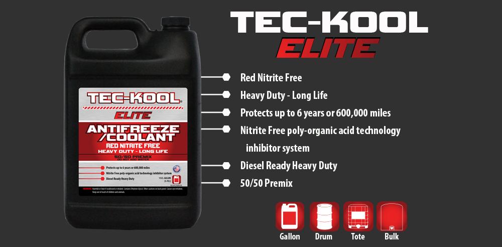 Tec-Kool Elite Red 50/50 Premix