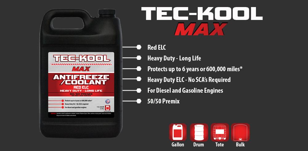 Tec-Kool Max Red 50/50 Premix