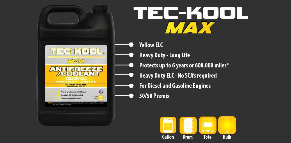 Tec-Kool Max Yellow 50/50 Premix