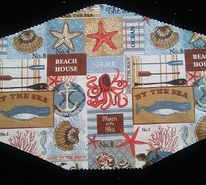 Decorative Beach House mask by Phoenix Raising Art