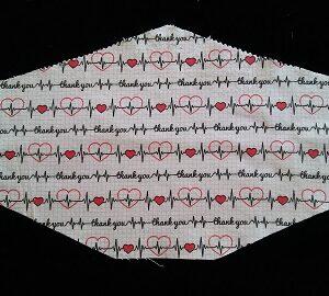Stylish Heartbeats mask by Phoenix Raising Art