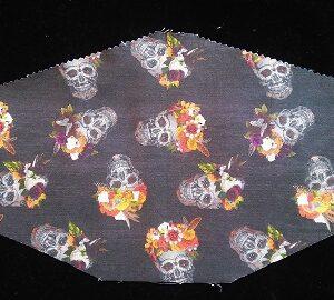Stylish Skulls with flowers mask