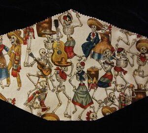 Dia de los Muertos Dancing Dead mask