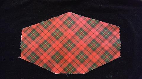Scottish Tartan mask with filter