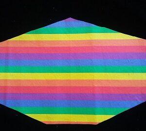 Gay Pride Flag stripes mask