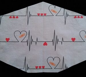 Three Layer Big Heartbeats mask by Phoenix Raising Art