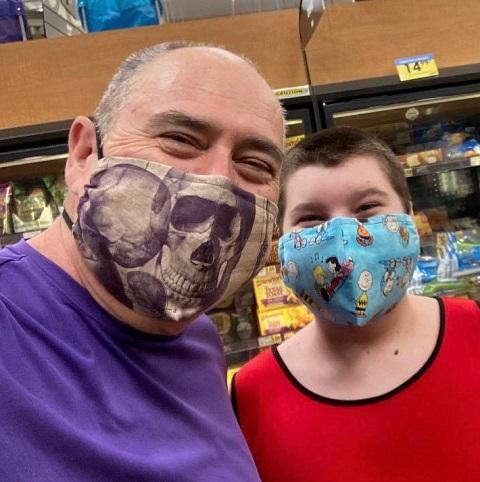 Fabulous Phoenix Raising Art masks at the grocery store