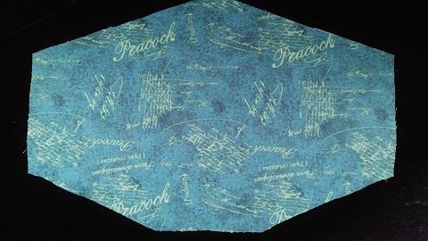 Fashionable Peacock Blue Mask by Phoenix Raising Art