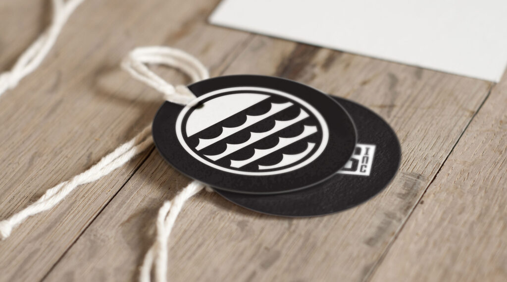 Swings Tags with Riders Ince Logo Design