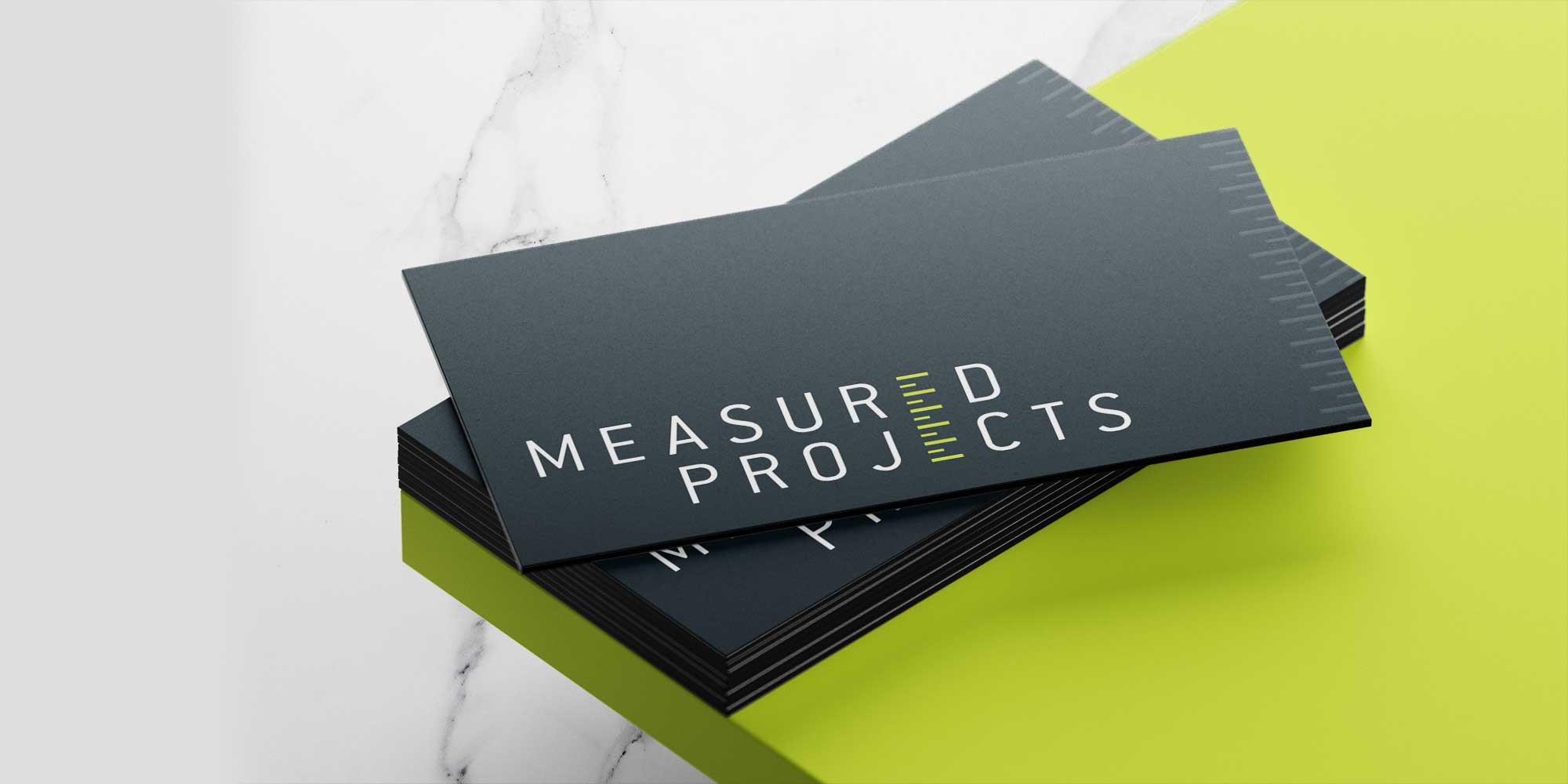 Professionally printed business cards with a spot varnish